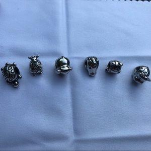 Pandora Jewelry - Like NEW Authenic Pandora Bangle and 10 Charms